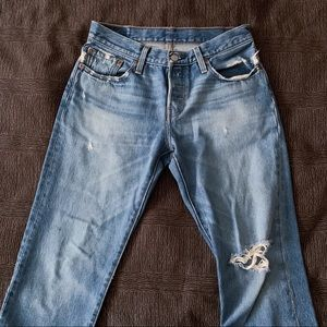 Levi's Distressed 501 Jeans